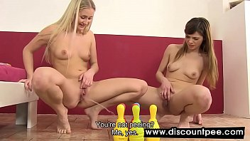 Skittle play for horny lesbians who love pee | Video Make Love
