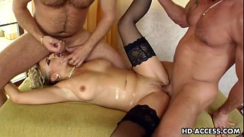 Milf blonde luciana takes on two younger dudes