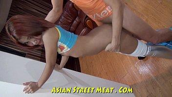 Silver Leggings Give Good Asian Service | Video Make Love