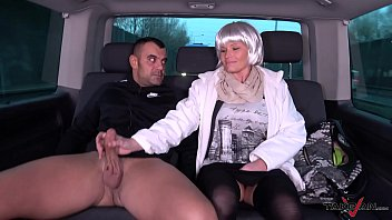 Blonde In Glasses Riding Dick In Backseat Of Van