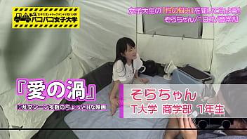 移動式テントでエロい事されて潮吹きが止まらない清楚な素人女子大生