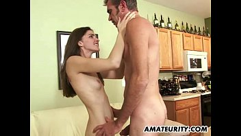 Young amateur girlfriend sucks and fucks an ...