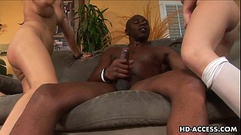 Rebecca linares and victoria sinn share a black guy