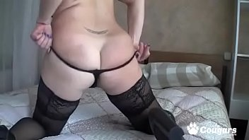 Big Titty MILF In Stockings & Heels Fingers Her... | Video Make Love