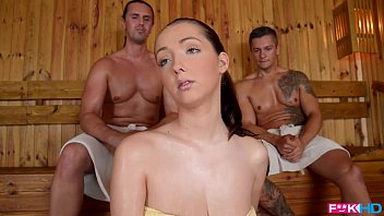 Fuckinhd - lucie wilde hot fuck with 2 guys in ...
