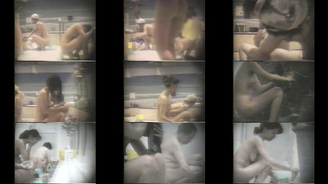 女湯で素人女性たちの裸体を撮り放題状態になってる 画像1
