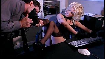Secretary fantasy sex xxx in stockings and a garter