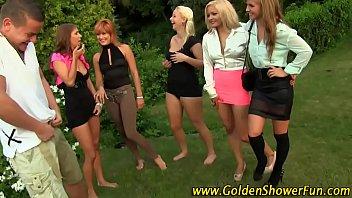 Golden shower for sluts