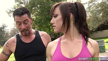 Sexy chick jennifer white gets a sensual workout with her trainer