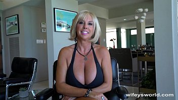Huge titty milf gets big cum blast ..