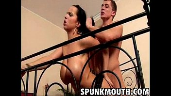 Stacked hottie laura lion gets tittyfucked and facialed