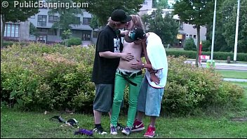 Teens public threesome sex xxx with cute blonde alexis crystal