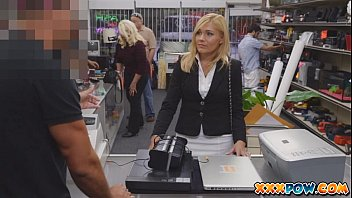 Sexually harassed milf got fired and goes to a pawn shop to sell some ..