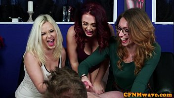 British cfnm babes give lucky dude ..