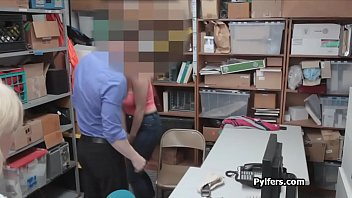 Big tit pilfer has to suck officers dick