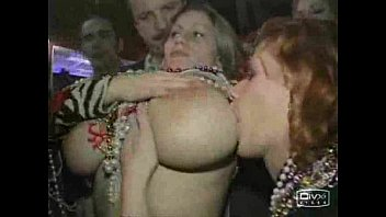 Mardi gras flashing tits boob groping