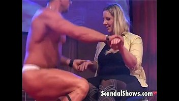 Male striper gives hot lap dance
