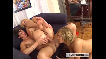 Two hot blondes take a big dick in the ass sl-2...