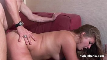 French masseuse sucks fat cock for cash