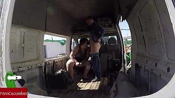 Blowjob in the abandoned van...
