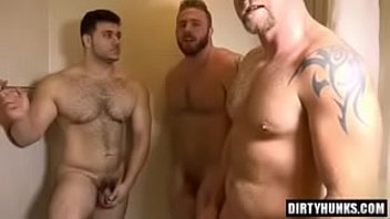 hotel Threesome gay room muscle in the