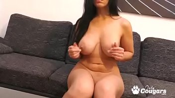 Milf alex black plays with her all natural big tits & pussy