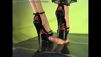 Shoejob satin rouge