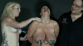 Two amateur slavegirls pain and tears in extreme