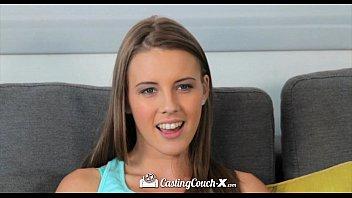 Hd castingcouchx newcomer lia ezra gets face sprayed with cum