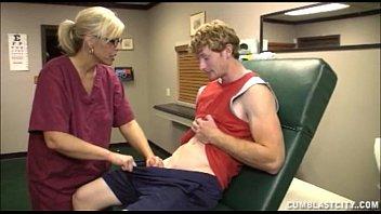 Blonde Nurse Has A Cum Shower   Video Make Love