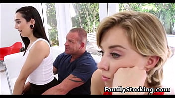 Teen step daughters fight for daddys cock familystroking.com