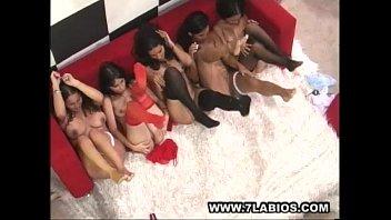 Orgia de cinco nenas colombianas