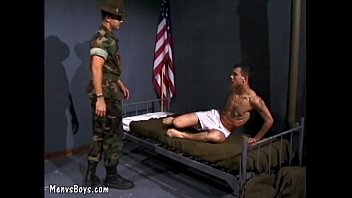 Peluculas Gay Horny sergeant gets the best of recruit s butthole