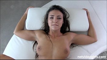 Perky tan mina ends up in lesbo threeway