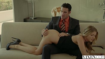 Vixen.com rich boss gets threesome with two blo...