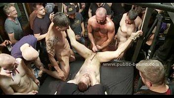Group male yahoo forced bondage