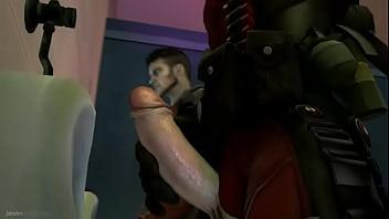 Xexo Gay Gratis  video deadpool y dmcdante estan teniendo un buen rato en el bano de hombres