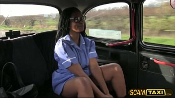 Horny lola gets fucked in the taxi