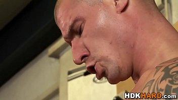 Gay hunks face creamed