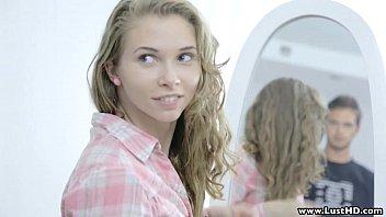 Lusthd blonde euro girlfriend making love with boyfriend