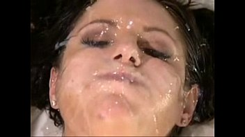 Multiple cumshot gang facial