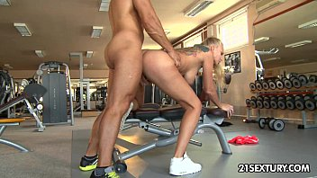 Blowjob and anal sex xxx in a gym with kayla green