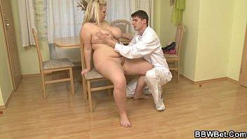 Doctor bangs his fat patient