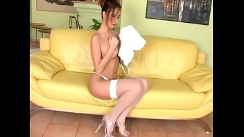 Fingering in thigh high stockings and panties