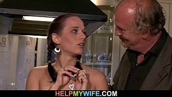 Cuckolding wife opens legs for a st..