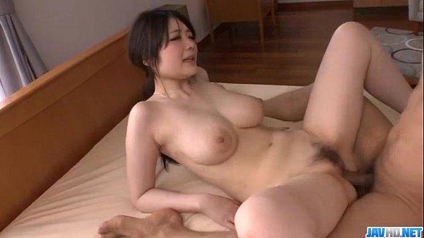 Sexy Rie Tachikawa shakes tits while fucking hard
