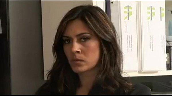 Busty Brunette secretary Raylene gives her c...