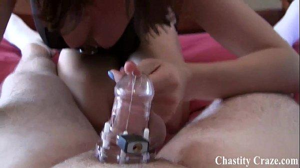 Woman giving man rim job