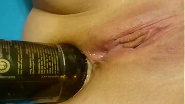 Анал фото бутылкой