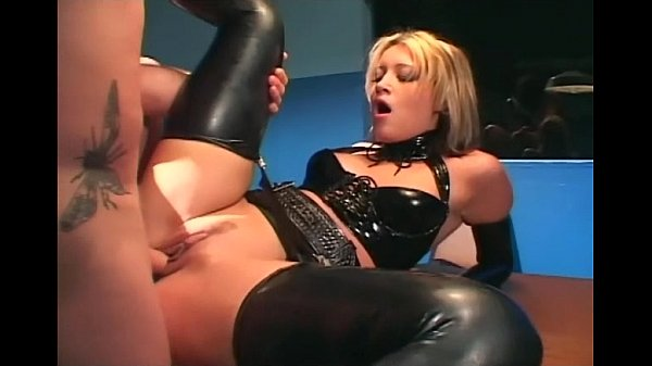 Uniformed female cop fucking in latex lingerie 1